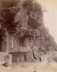 End of Dhedwada [Dherwada] caves [Ellora]